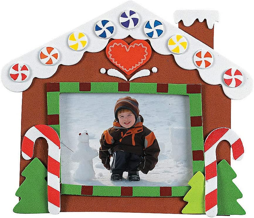 Christmas Picture Frame Craft Kits Gingerbread house 12 pack