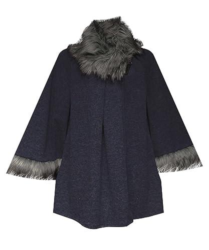 AHR @ Ladies Cascada italiano Blazer para mujer frontal abierto sin mangas capa chaqueta abrigo