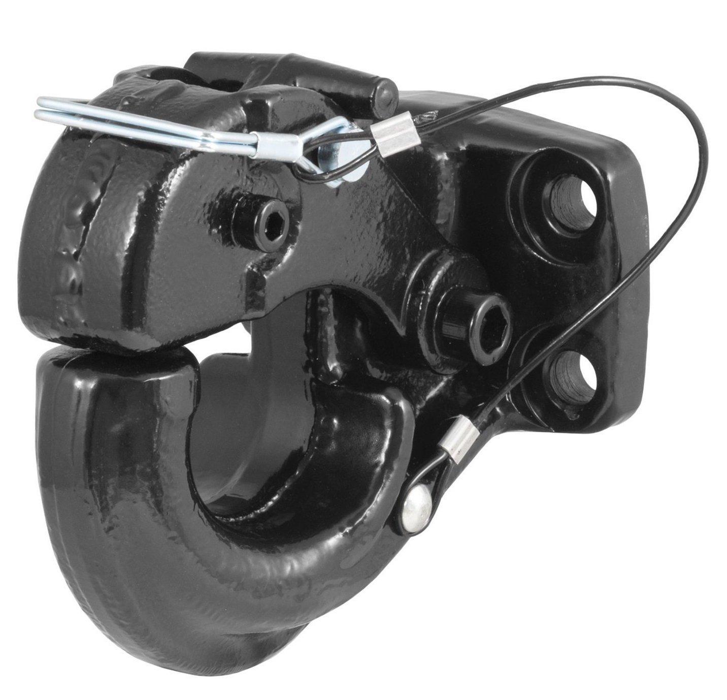 Standard 15-Ton Capacity - Black Prime Steel 18156 Black Forged Mount Pintle Hook