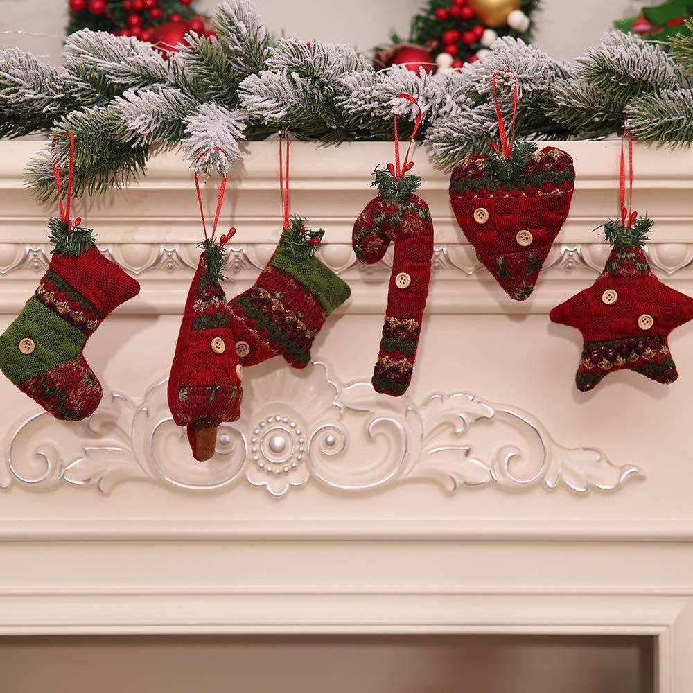 Kesote Conjunto de 6 Adornos de Árbol de Navidad Accesorios Decorativos de 3