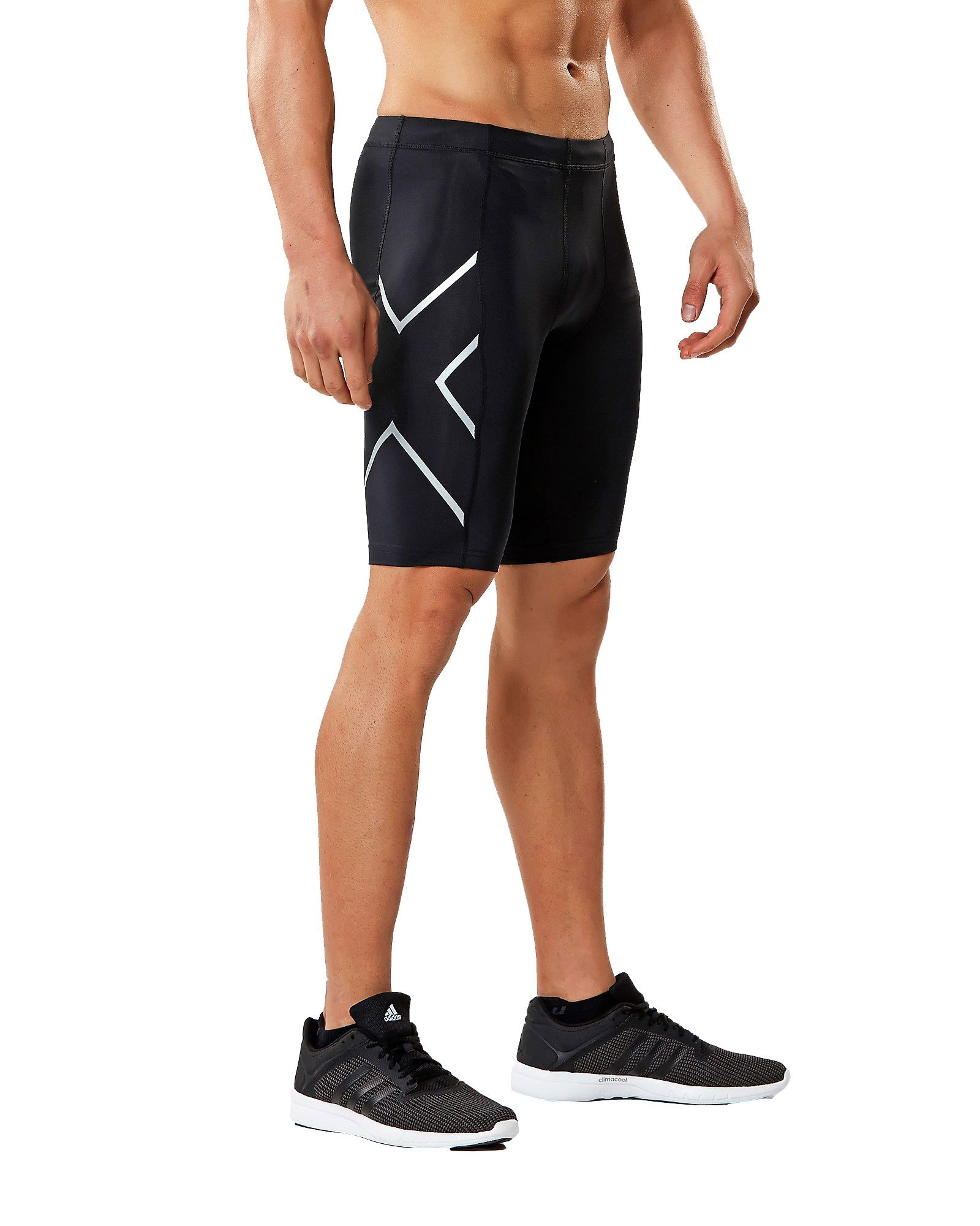 2XU Core Compression Shorts, Black/Silver, Medium by 2XU (Image #1)