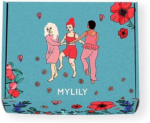 MYLILY® First Period Kit | Primera Periodo Starter Set | Inspección para mujeres jóvenes * | Productos periodos orgánicos, libro explicativo y mucho ...