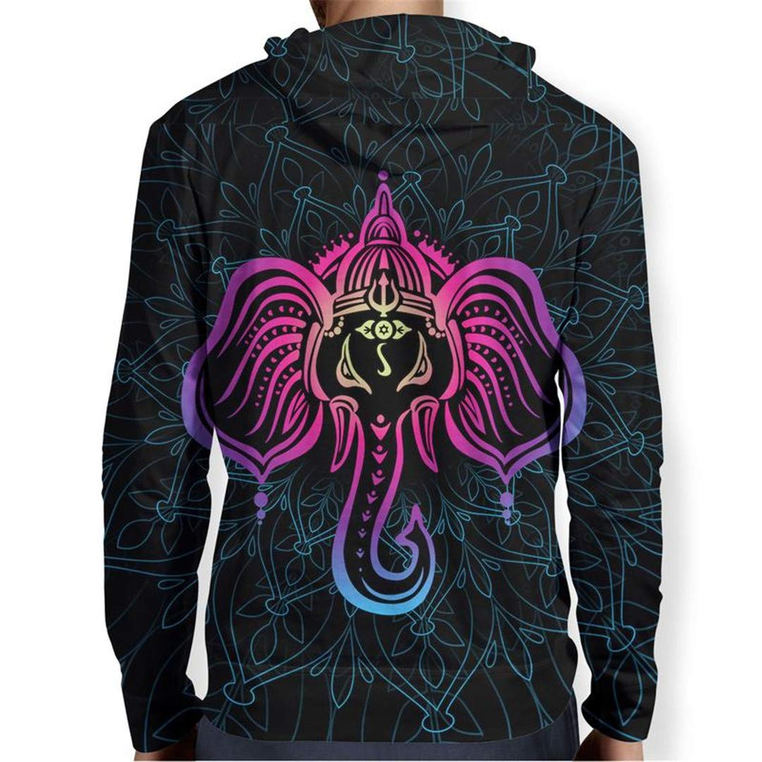 Ganesha Men Women Autumn Winter 3D Hoodies Sweatshirts Sleeve Pullover Hoody Tops