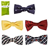 Bundle Monster Stylish Dashing 5pc Boys Tuxedo Novelty Adjustable Neck Bow Tie Lot - Various Designs, Dapper Junior Collection