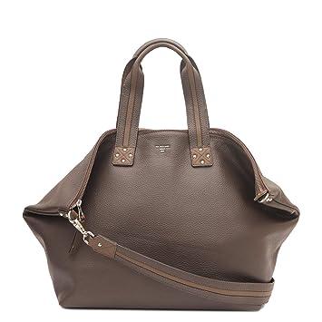 f91b4baa634 Da Milano LG-5127 Brown Genuine Leather Duffle Luggage Bag: Amazon.in: Bags,  Wallets & Luggage