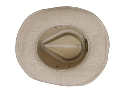 8234dec1b8eda Dorfman Pacific Men s Twill Outback Hat at Amazon Men s Clothing store