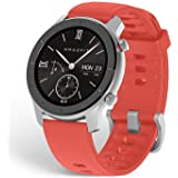 Amazfit GTR Smartwatch with GPS+Glonass, All-Day Heart Rate Monitor, Daily Activity Tracker Rate and Activity Tracking, 10-Day Battery Life, 12- Sport Modes, 42mm, Coral Red