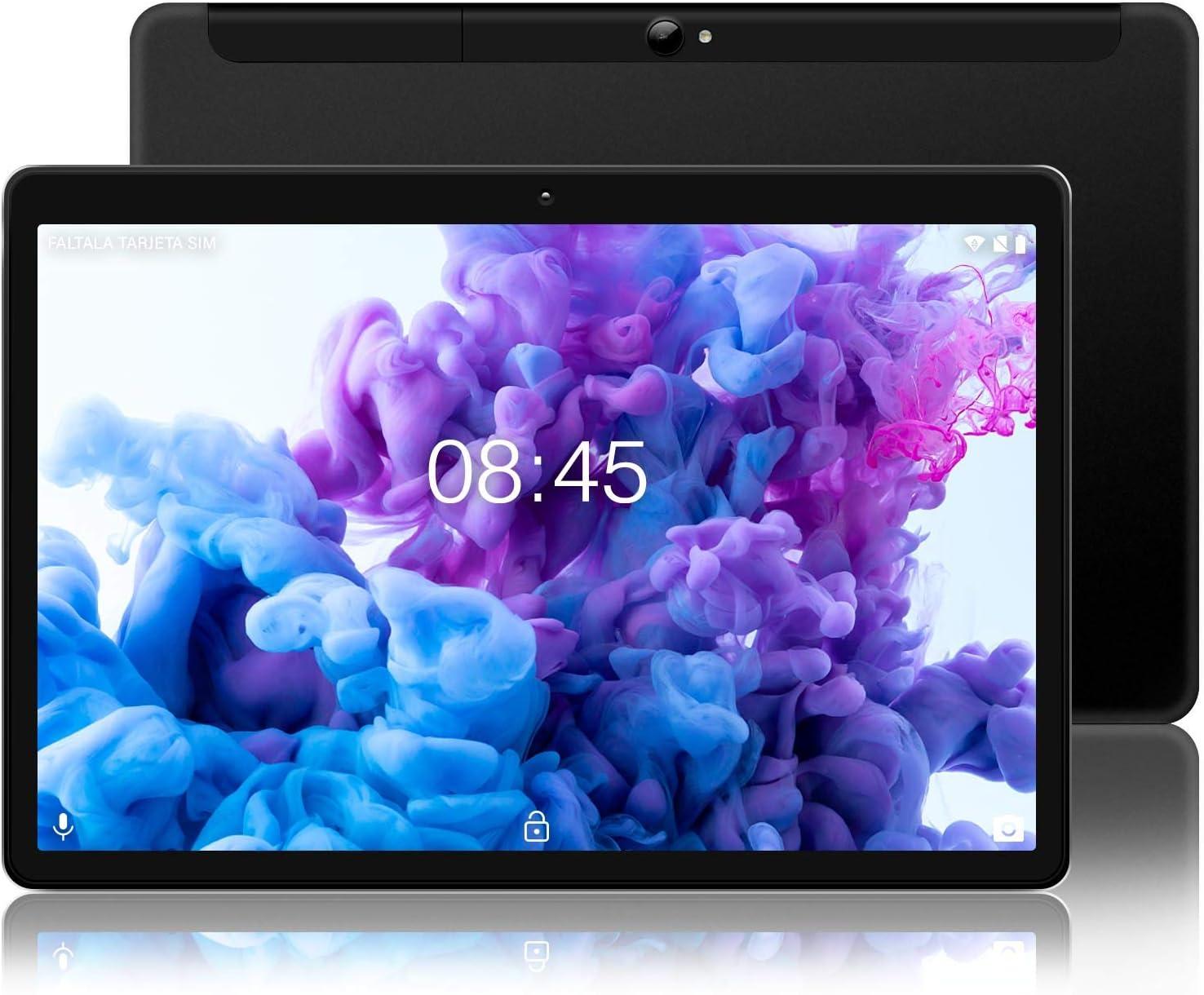 MEBERRY Tablet 10 Pulgadas Android 10.0 Ultrar-Rápido Tablets 4GB RAM + 64GB ROM - Certificación Google GSM - 4G Dual SIM - 8000mAh | WI-FI | Bluetooth | GPS |Type-C Tablet (5.0+8.0 MP Cámara) - Nergo