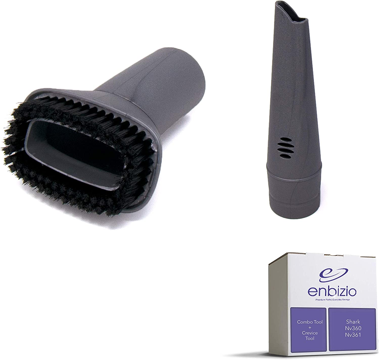 Enbizio Vacuum Replacement Parts for Shark Navigator Professional Lift Away UV440, NV350 NV351 NV352 NV360 Nv361 Vacuum Accessory Kit - Combo Dusting Brush + Crevice - Compare to 112FFJ