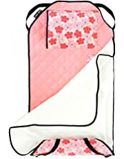 Urban Infant Tot Cot All-in-One Modern Preschool/Daycare Nap Mat with Elastic Corner Straps - Poppies