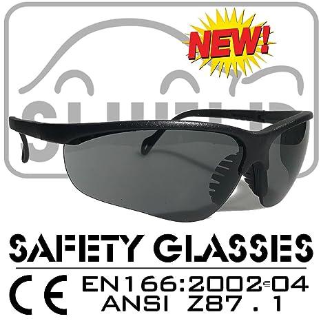 ea6ae85ab0ccd8 Shield   Shooter   Grey Polarized Sport Lunettes de protection, Lunettes de  sécurité, Lunettes