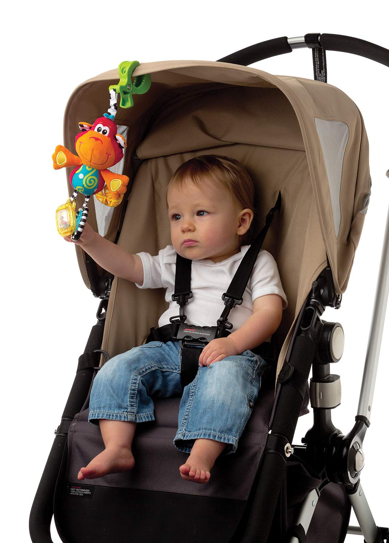 Curly el mono juguete con sonajero para bebe Dingly Dangly Playgro 182854 lactancia