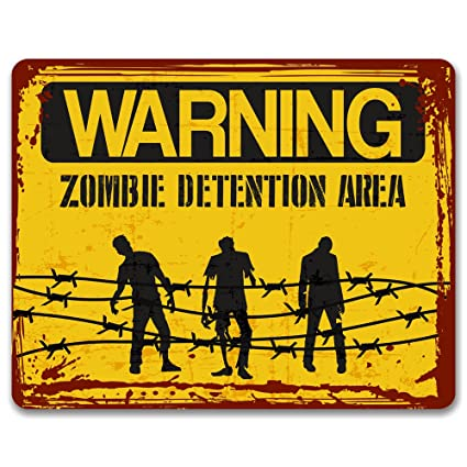 Warning Zombie área de detención – Efecto de Vintage Metal Sign/Placa