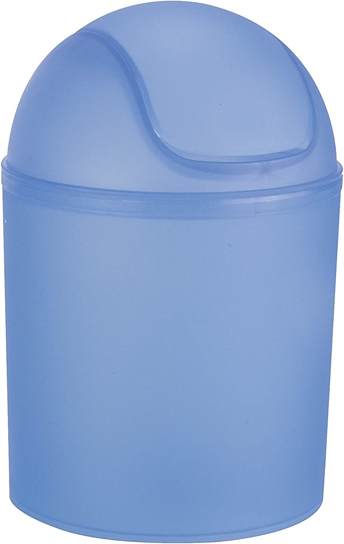 Wenko 15199100 Arktis 32 cm 4.5 L color transparente Cubo de la basura con tapa giratoria