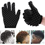 Magic Hair Curling Sponge Gloves for Barbers Twist Wave Curling Brush Styling Tool For Curly Hair Styling Care (Right…