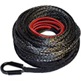 Ranger 7,500 LBs 1/4' x 50' UHMWPE Synthetic Winch Rope 6 MM x 15 M for UTV/ATV Winch
