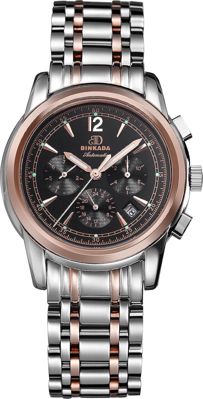 BINKADA 6ポインタfor Mans自動機械ブラックダイヤルメンズ腕時計# 706203 – 4 B00Y68IBDK