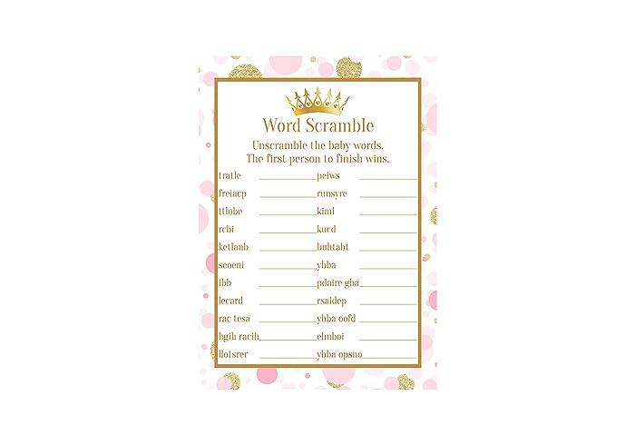 Amazon Com Princess Pink And Gold Word Scramble Word Scramble Baby