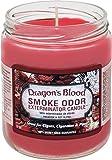 Smoke Odor Exterminator 13 oz Jar Candles Dragon's Blood, (2)