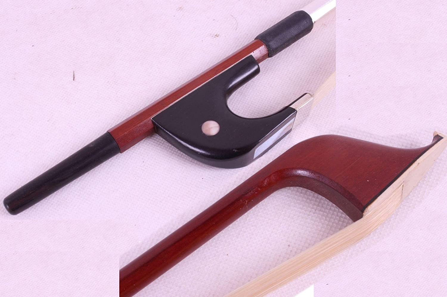 Yinfente 3/4 Upright double bass Bow Brazilwood German Bow Natural Bow Hair Well balanced