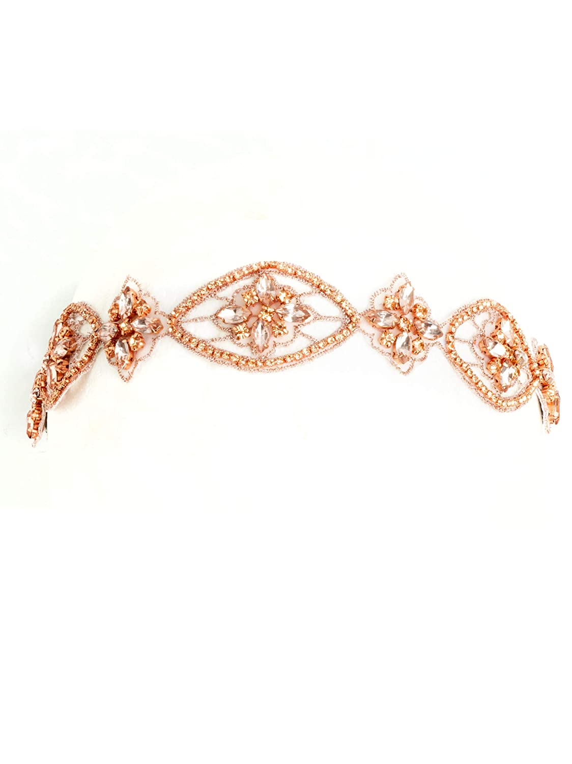 1920s Flapper Headband, Gatsby Headpiece, Wigs Bohomonde Indira Headband Crystal Rhinestone Fancy Formal Beaded Headband Boho Headpiece $12.99 AT vintagedancer.com