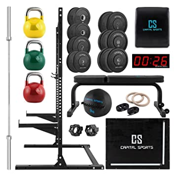 Capital Sports Set completo de entrenamiento (barra para pesas ...