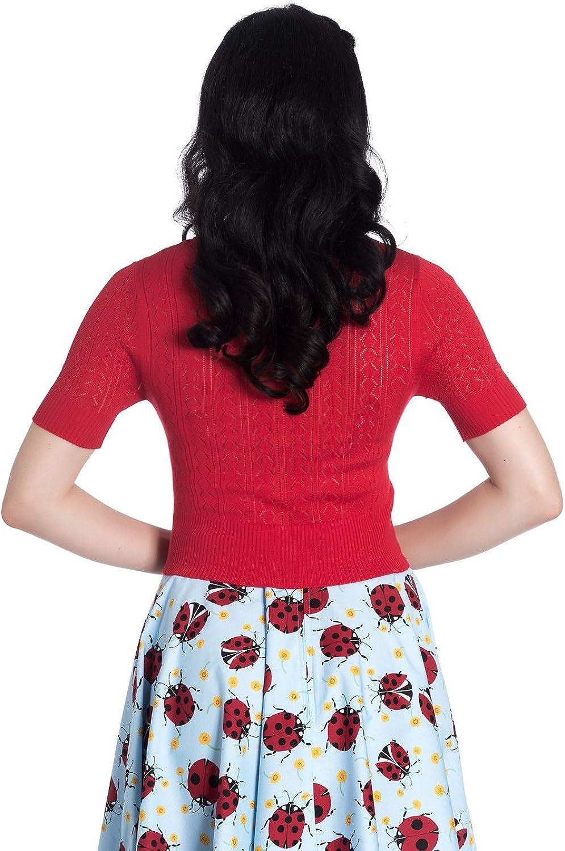 Hell Bunny Haut Tricot/é Loretta Vintage Cardigan R/étro 1950 Rockabilly