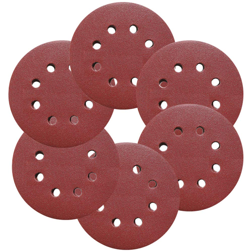 Sanding Sheets, Kereda 60 Detail Sander Pads Round Grinder Sandpaper Hook and Loop Backed Assorted 40 60 80 120 180 240 Grits with Holes (125mm)