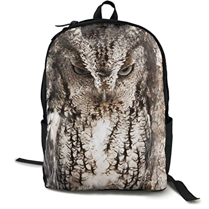 486dc2d45c11 Amazon.com: Hills Costume Camo Owl Canvas Backpack Lightweight Basic ...