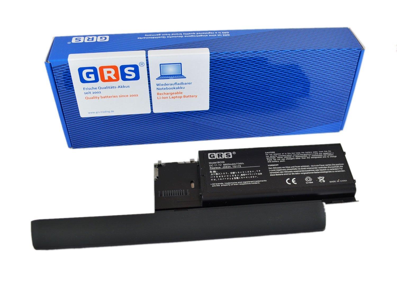 GRS Batería con 6600mAh para Dell Latitude D620, PC764 451-10298, sustituye a: PC764, 312-0383, 451-10298, 310-9080, JD634 Laptop accu con 6600mAh,11.1V: ...