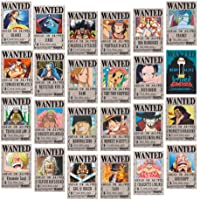 Miss House One Piece Wanted Posters 28.5cm×19.5cm, New Edition Kraft Paper Poster, Luffy 1.5 Billion, Set of 24