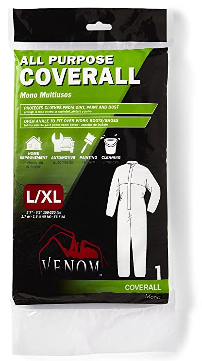 6 Pack Venom VENCV200LXL All-Purpose Disposable Coveralls - Large/X ...