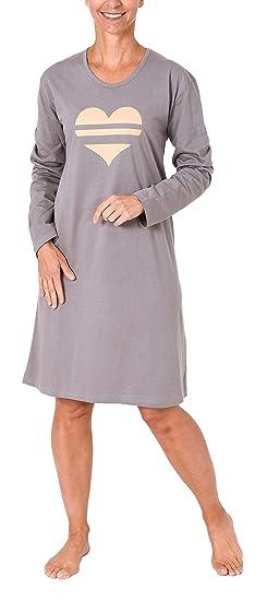 281 213 90 410 Lässiges Damen Nachthemd Bigshirt langarm mit Herzmotiv