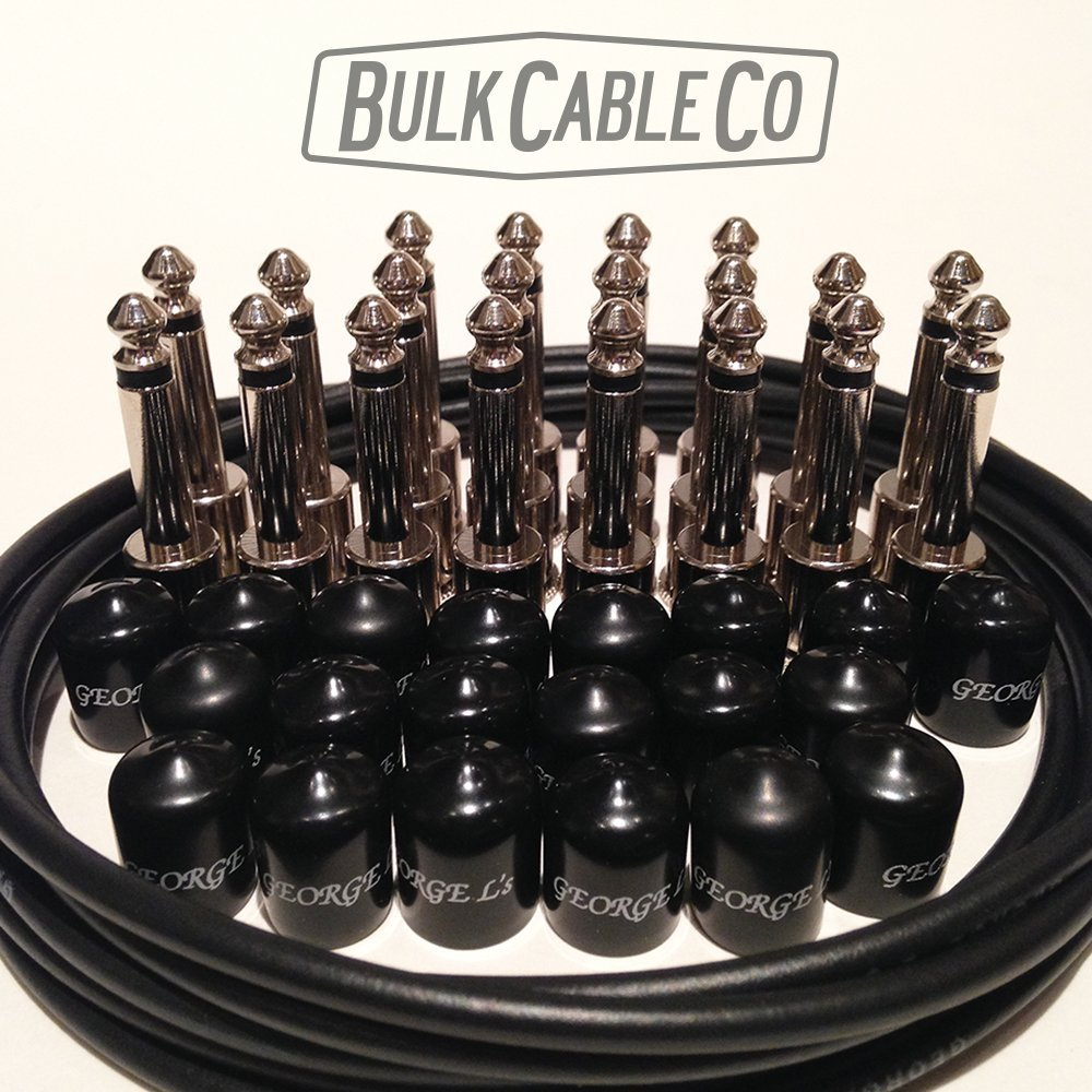 George L's Pedal Board Kit - 10 Patch Cables - 10 FT of Cable - 20 Plugs - 20 Caps by George L's (Image #1)