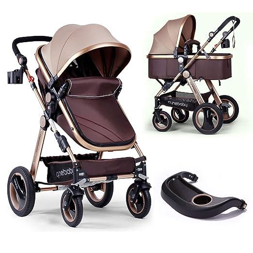 Cochecito infantil de lujo para bebés recién nacidos y niños pequeños