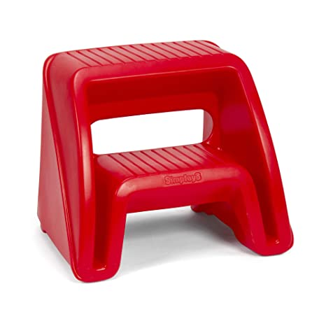 Astounding Simplay3 Handy Home 2 Step Plastic Stool 16 In Red Gamerscity Chair Design For Home Gamerscityorg