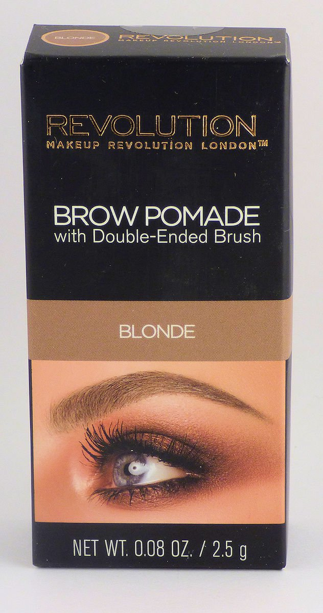 Makeup Revolution Eyebrow Brow Pomade With Brush, Blonde