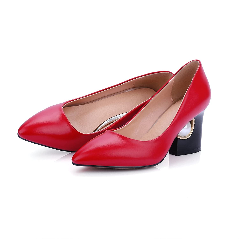 Stilvolle tipp Licht - dick mit high-heeled Hochzeit Schuhe Schuhe Schuhe für Frauen singles Schuhe ROT 0a5ebd