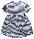 Amazon Price History for:Fiream Girls' Casual Short-Sleeved Striped T-shirt Dress