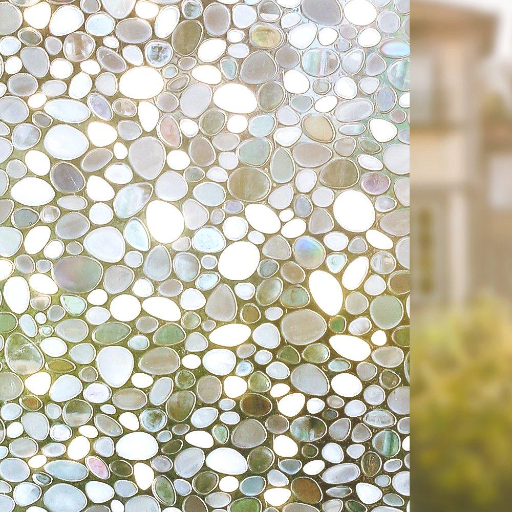 Homein 3D Fensterfolie Milchglasfolie Selbsthaftend Fenster