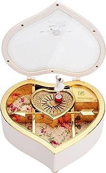 Caja de Música Joyero Diseño de Corazón Juguete con Sonido ...