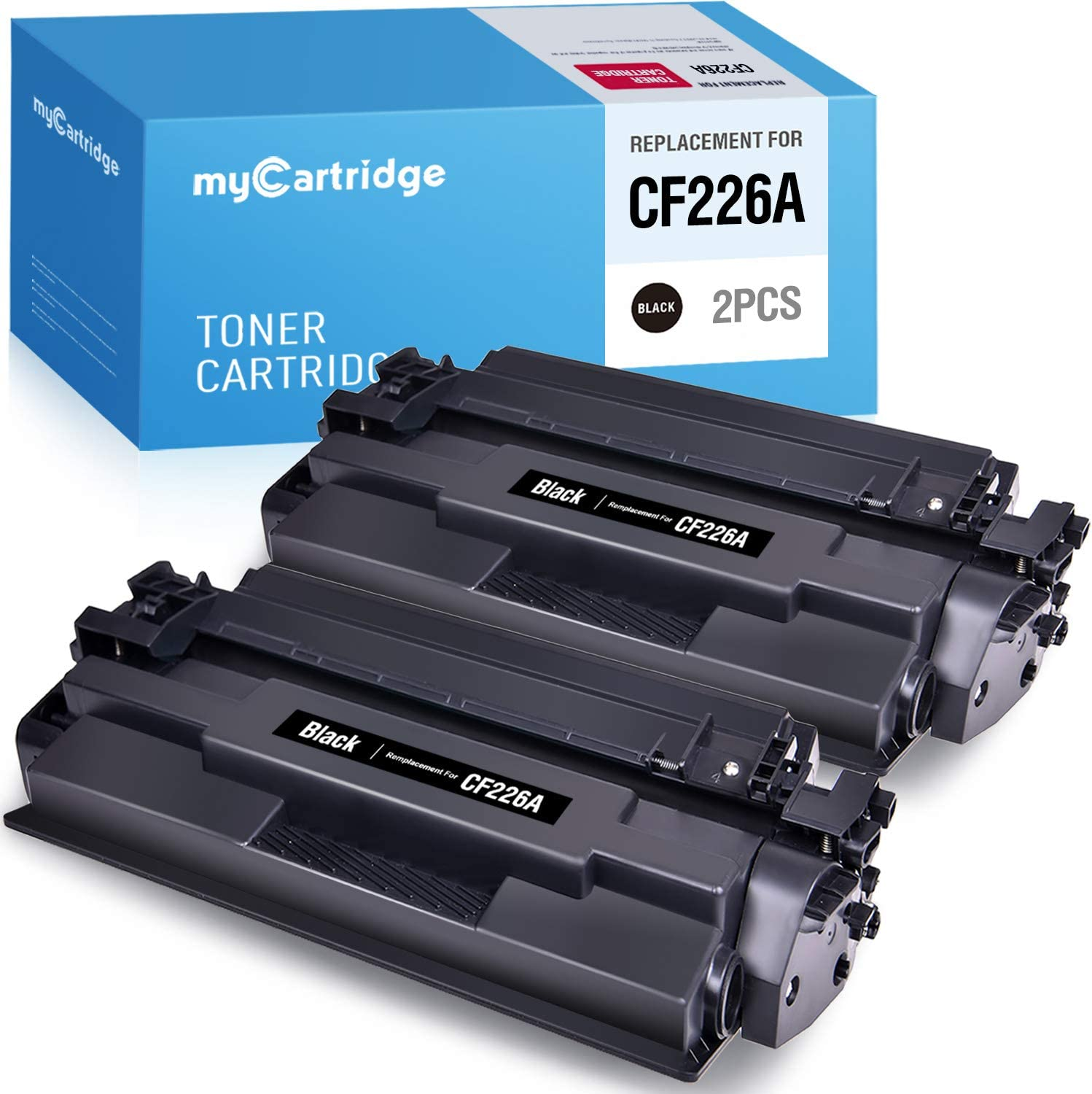 myCartridge Compatible Toner Cartridge Replacement for HP 26A CF226A Black 2-Pack High Yield Fit for Laserjet Pro M402n M402dn M402dw Laserjet Pro MFP M426fdw M426dw M426fdn M402 M426 Series Printer