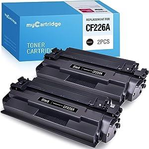 myCartridge Compatible Toner Cartridge Replacement for HP 26A CF226A Black 2-Pack High Yield Fit for Laserjet Pro M402n M402dn M402dw Laserjet Pro MFP M426fdw M426dw M426fdn M402 M426 Series Printer