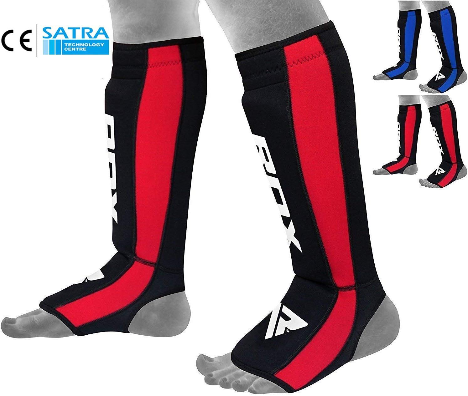 Boxe Prot/ège Tibia Combat Pied MMA Cheville Kick Boxing Karate Certifi/é CE Approuv/é par SATRA RDX N/éopr/ène