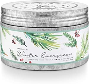 Tried & True Winter Evergreen Large Tin, 14.1 oz Candle