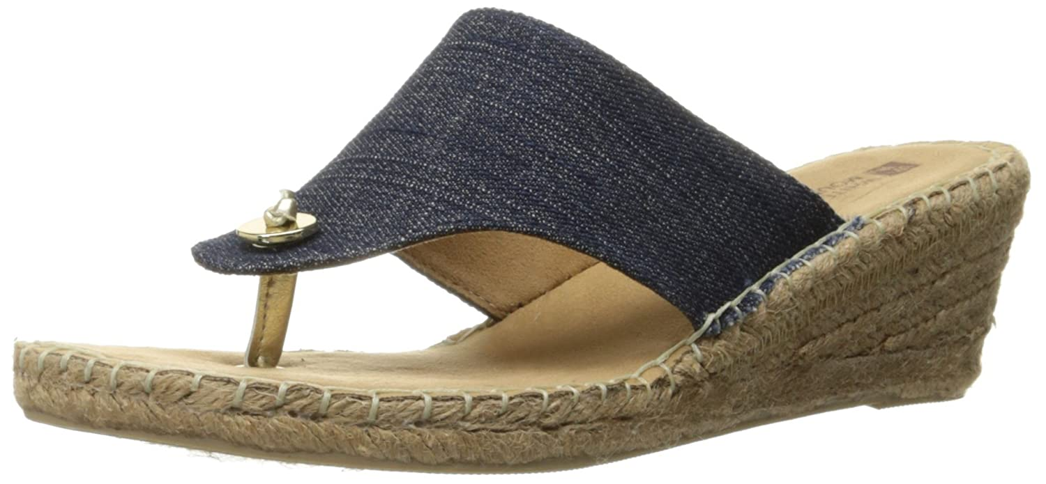 WHITE MOUNTAIN Women's Beachball Wedge Sandal B00UAWZGES 8.5 B(M) US|Dark Denim