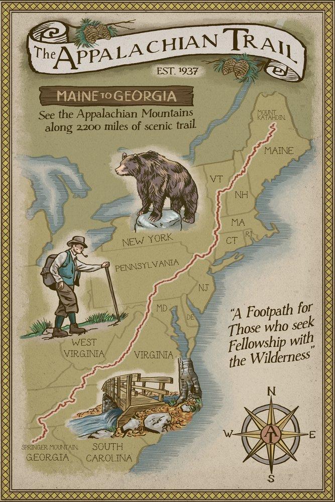 春夏新作モデル Appalachian Trailマップ Print 15oz Mug LANT-3P-15OZ-WHT-46157 B07B2D4QSZ Trailマップ 24 16 x 24 Signed Art Print 16 x 24 Signed Art Print, 越智郡:dd04e8a5 --- podolsk.rev-pro.ru