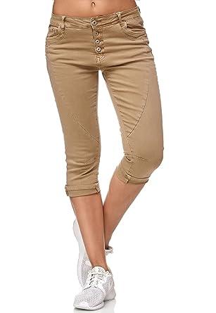 My Christy Damen Capri Jeans 3 4 Boyfriend Chino Hose Stretch Shorts D2344,  Farben 482d98a995