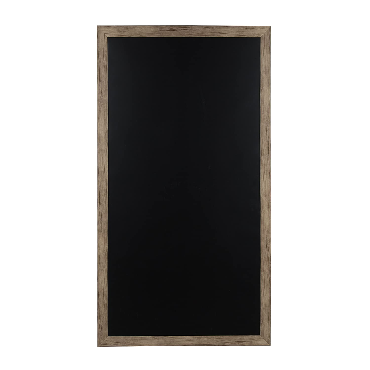 DesignOvation 209306 Beatrice Wall Mounted Oversized Framed Magnetic Chalkboard, Black Uniek
