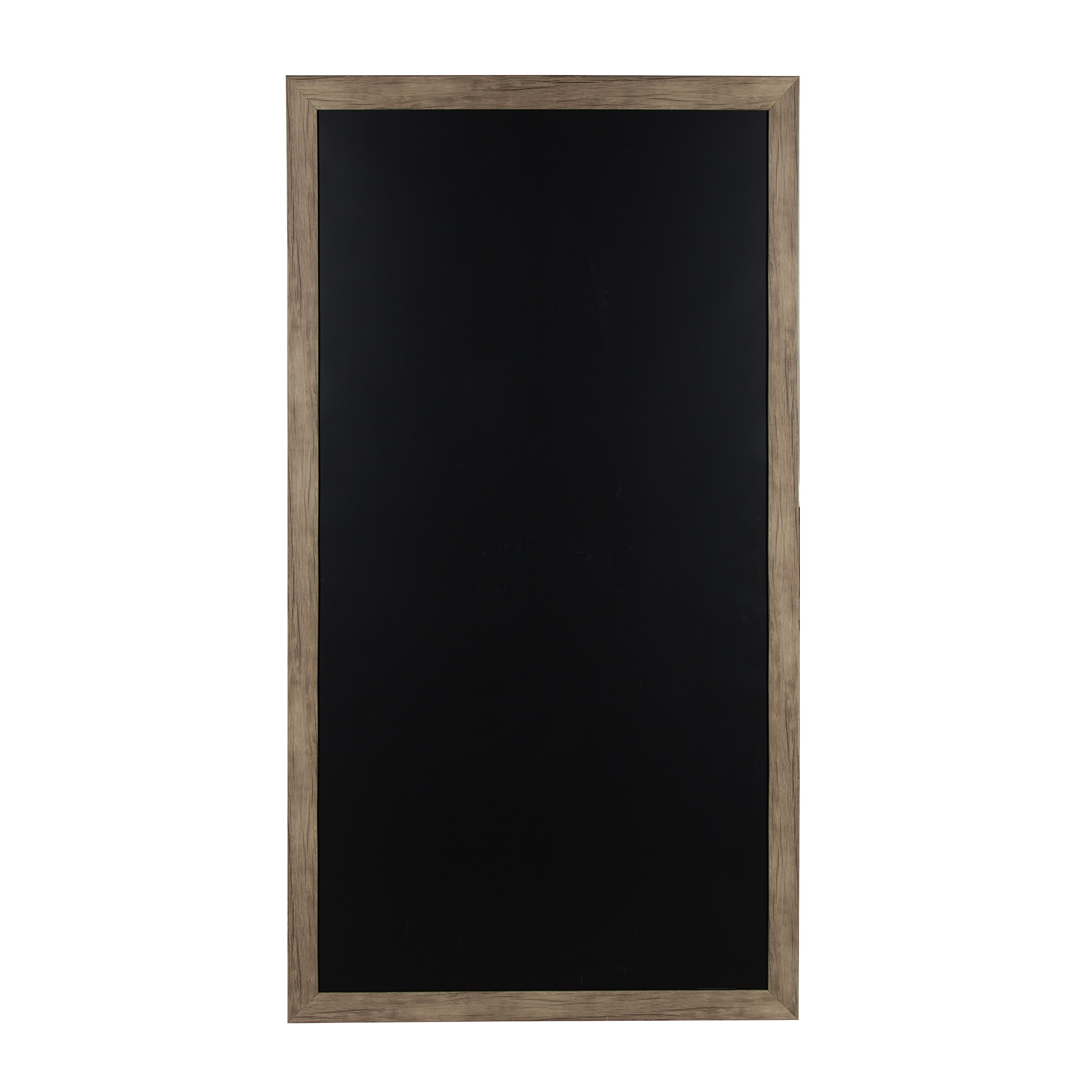 DesignOvation 209307 Beatrice Wall Mounted Oversized Framed Magnetic Chalkboard, Brown by DesignOvation